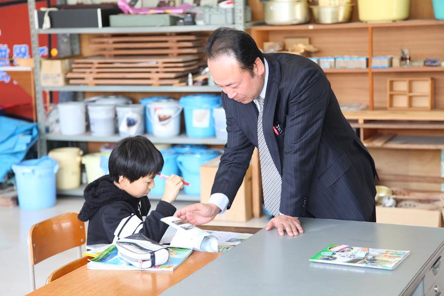 杉沢小学校5年生の授業